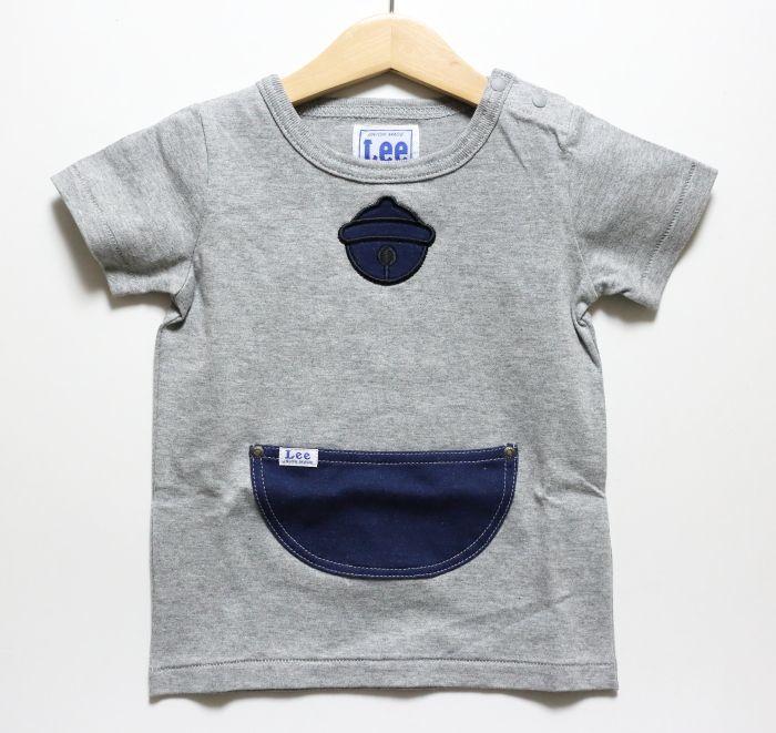 画像1: Lee(リー)×ドラえもん ポケット半袖Tシャツ【グレー】【キッズ/ベビー】【80-120cm】 (1)