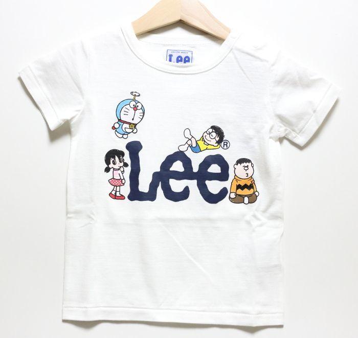 画像1: Lee(リー)×ドラえもん 半袖Tシャツ【ホワイト】【キッズ/ベビー】【80-120cm】 (1)