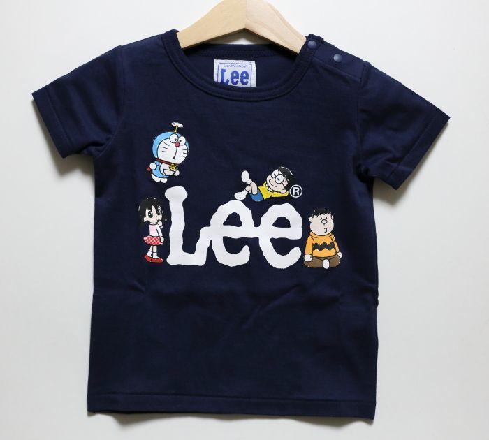 画像1: Lee(リー)×ドラえもん 半袖Tシャツ【ネイビー】【キッズ/ベビー】【80-120cm】 (1)