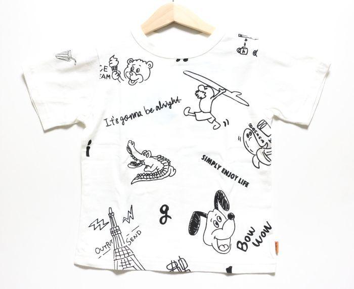 画像1: HIGHKING(ハイキング) graffiti s/sleeve【white】【90-110cm 】 (1)